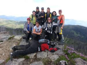 Group of women riders