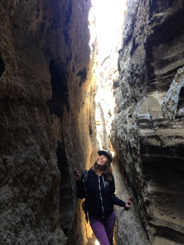 Look! I'm in a fissure!