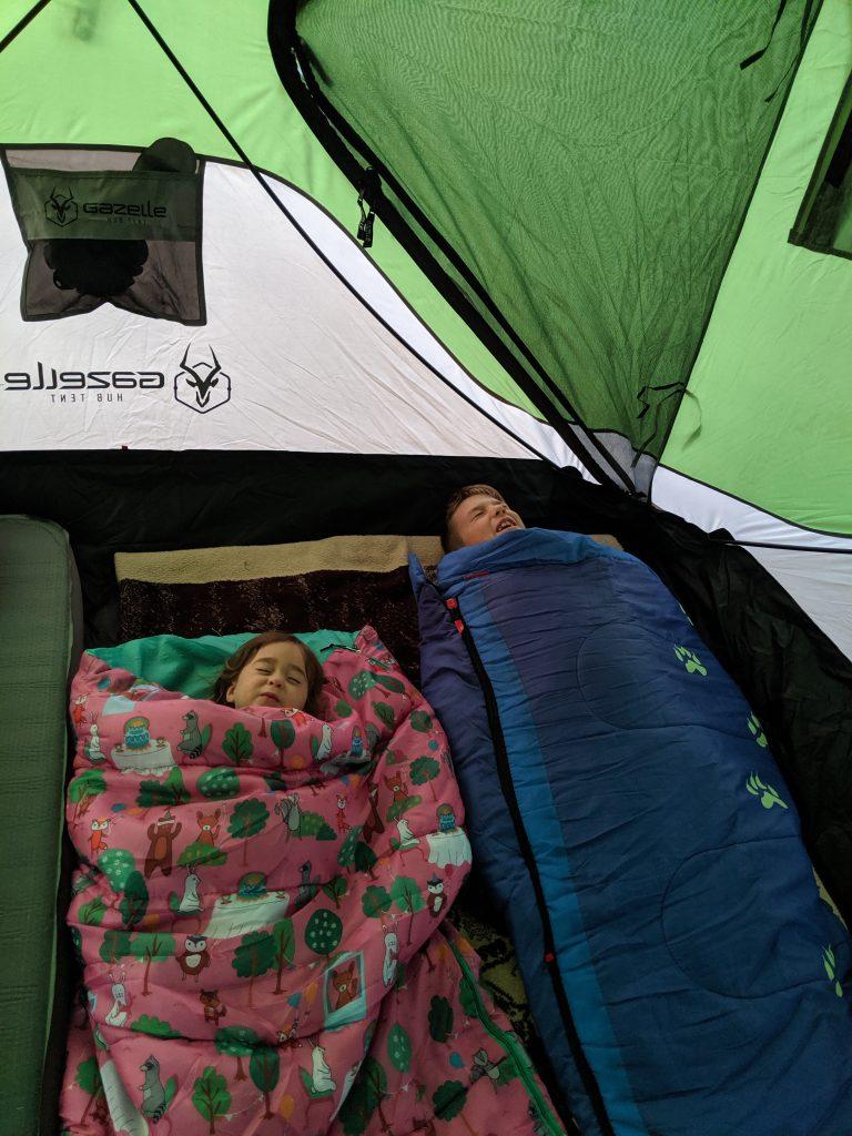 fake sleeping camping