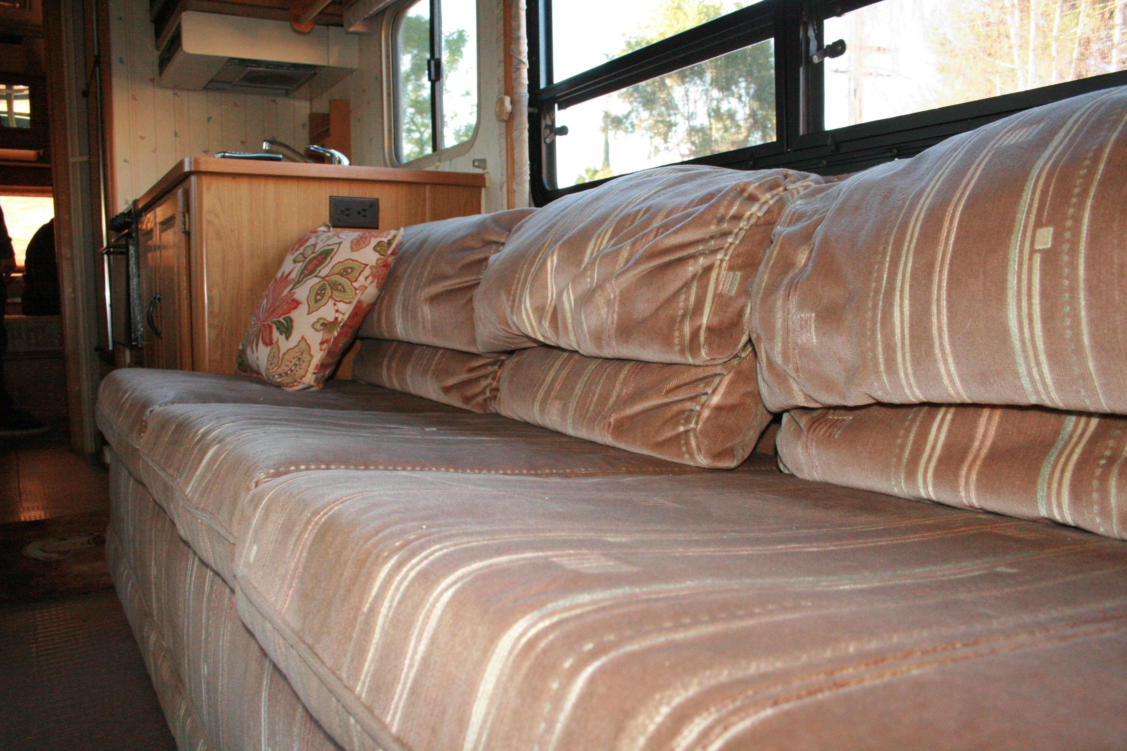 RV Renovation Jackknife Couch BeforeAfter  Dirt Roads