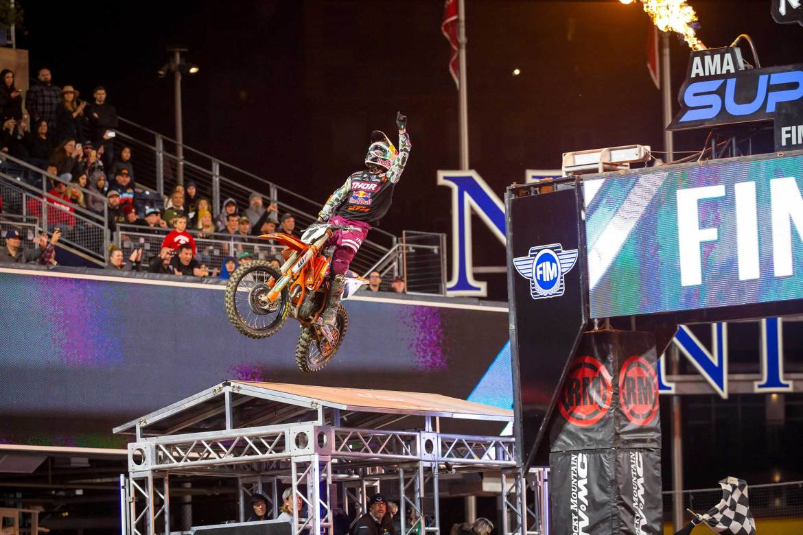 Champion Cooper Webb Wins First Supercross Race in 2020
