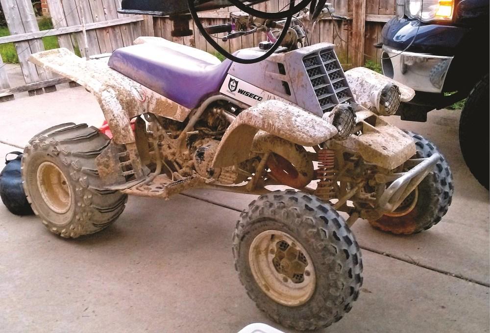medium resolution of eric reno s 1993 banshee is not afraid of the mud at michigan s bundy hill riding park