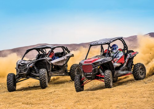 small resolution of in the production utv world of colossal horsepower and monstrous torque there are two brands that stand in a power struggle atop the sport utv world