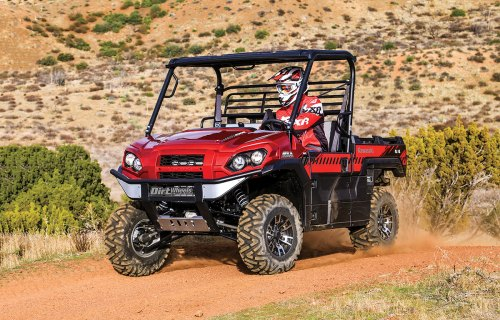 small resolution of the kawasaki mule line has been around for 30 years and for much of that time these were bare bones utility machines that were all about work