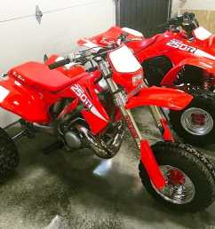 so how did this modern atc250r come to be well it s another project build by michael noska of 220 trikes llc he began with a 2003 honda cr250r dirt bike  [ 1200 x 922 Pixel ]