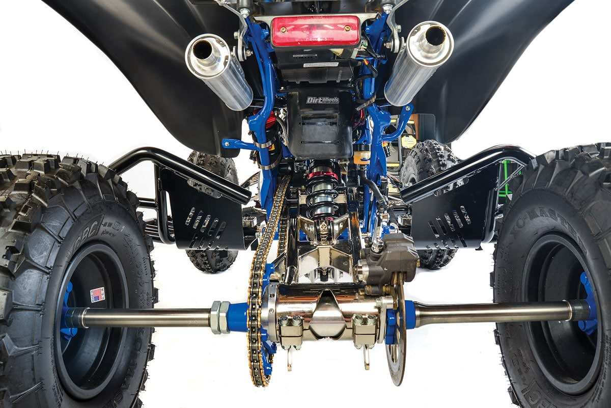 hight resolution of lonestar s sweet swingarm was ordered an inch longer than stock to aid handling the rear of this machine is all business and with 400cc of hot rod motor
