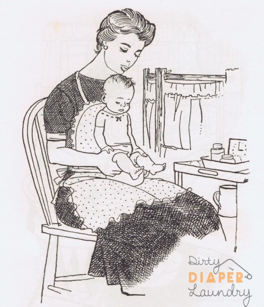 Why the loose diapers? An explanation of vintage diapering