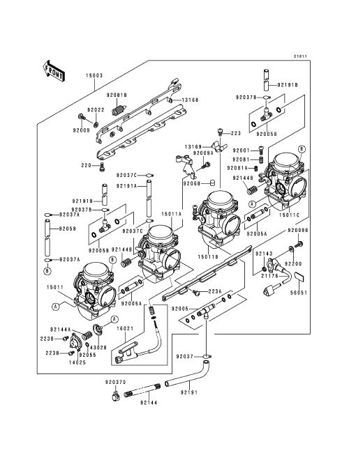 V Star 1100 Carburetor Diagram, V, Free Engine Image For