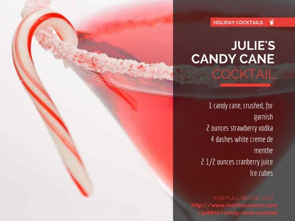 Julie's Candy Cane Cocktail