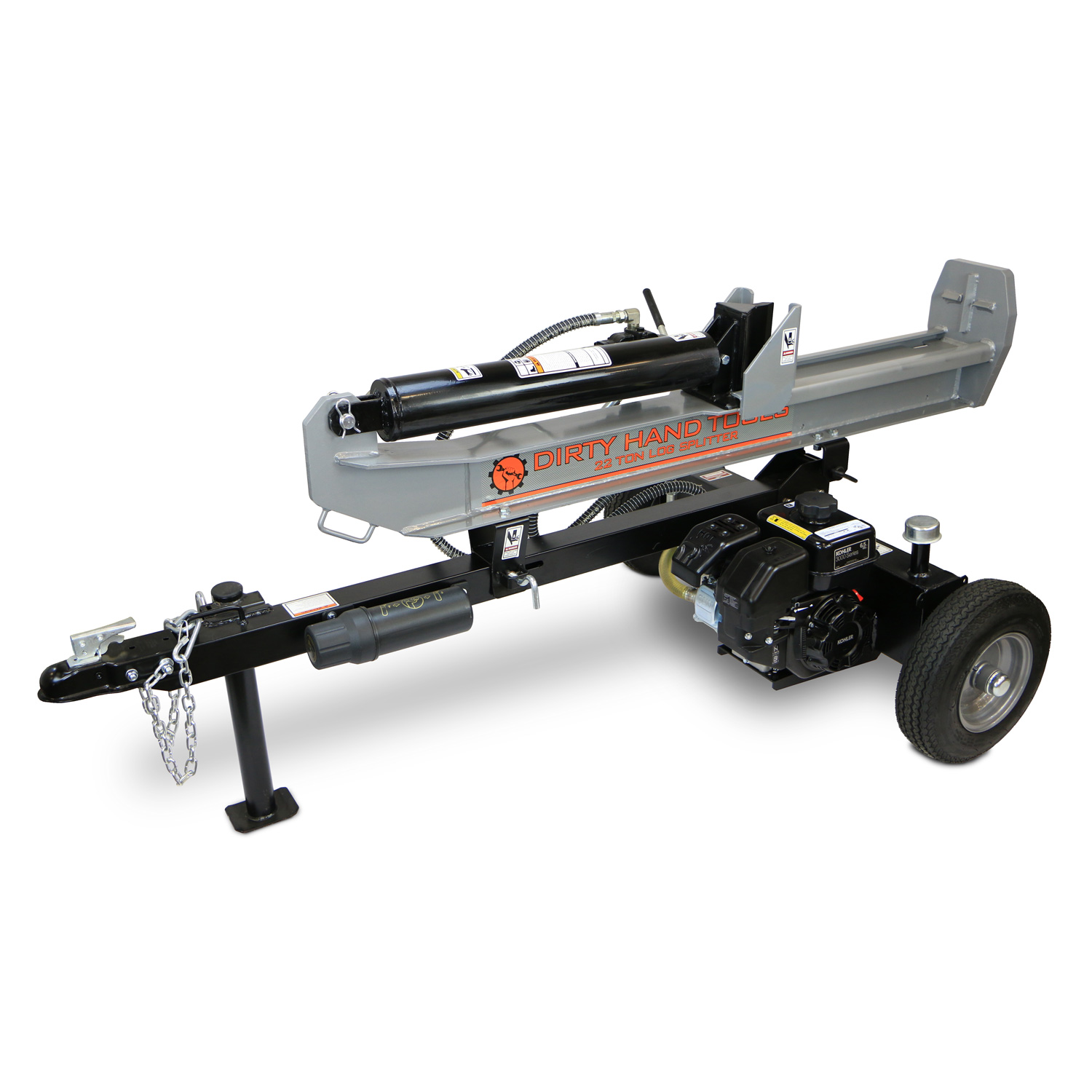 hight resolution of 22 ton horizontal vertical log splitter kohler engine dirty hand tools colorado usa