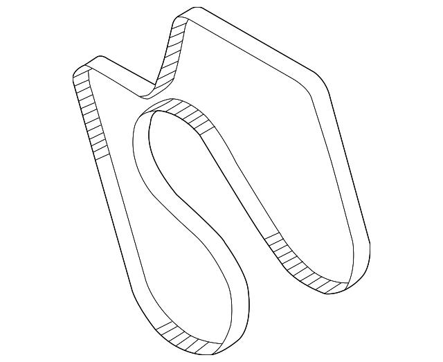 GM 97300653 Duramax Serpentine Belt 2002-2005 w/AC w/105A Alt.