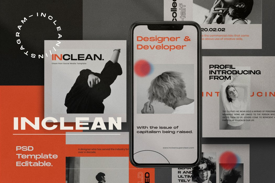 INCLEAN // Social Media Kit Post & Stories