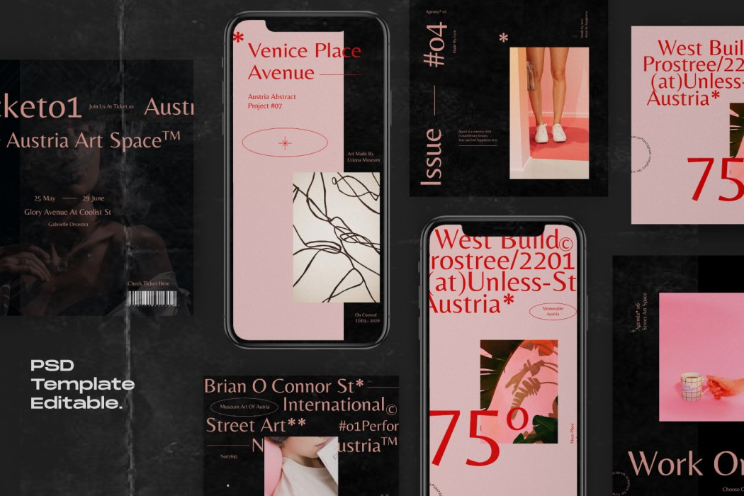 AUSTRIA // Social Media Kit Post & Stories