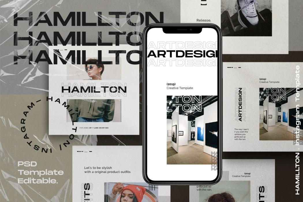 HAMILLTON // Social Media Kit Post & Stories