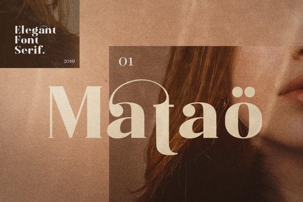 MATAÖ – ELEGANCE FONT SERIF
