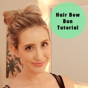 hair bow bun tutorial extensions