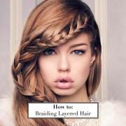 braid layered hair
