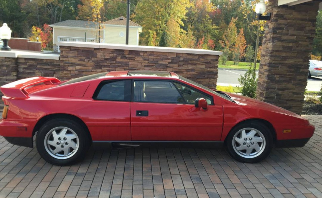 Red 1989 Lotus Esprit Turbo found in New Jersey