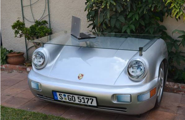 porsche 911 office desk for sale in los angeles | dirty old cars