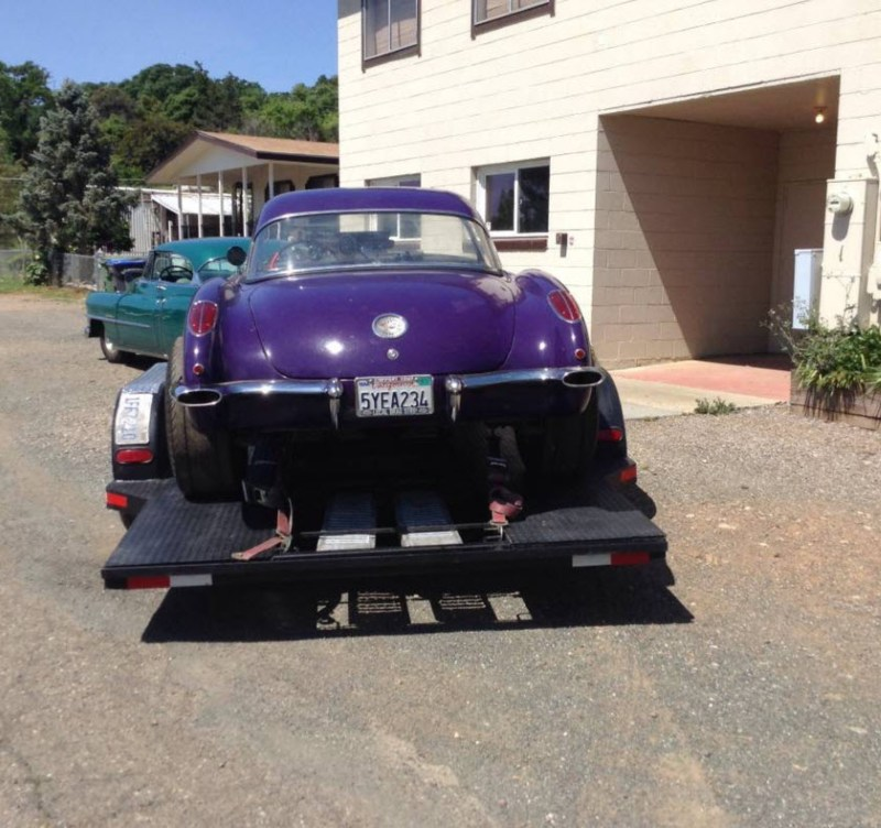 dirtyoldcars.com  1958 Corvette Gasser Mr VOO DOO Found in San Rafael  1
