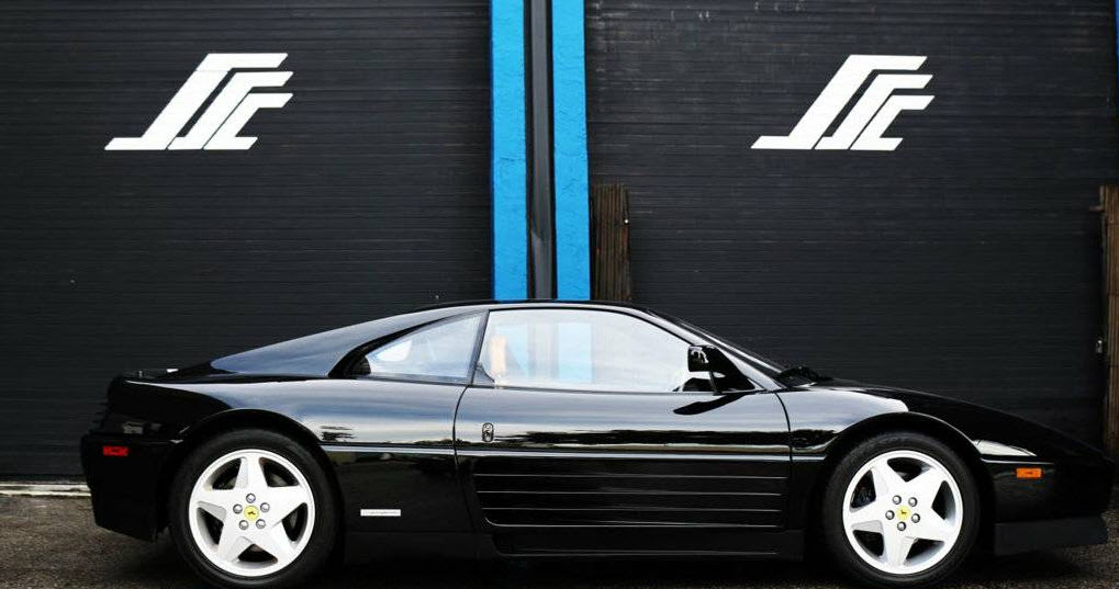 dirtyoldcars.com 1992 Ferrari 348 TB Found in Florida Black Tan Interior Complete Service History 8