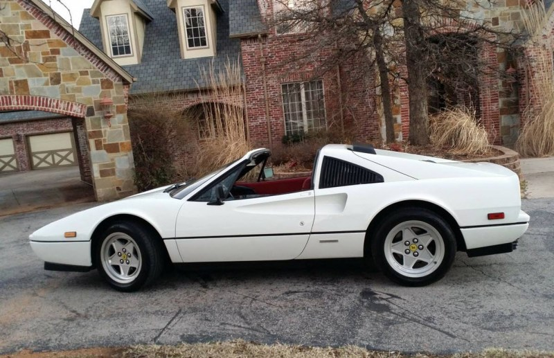 dirtyoldcars.com White 1987 Ferrari 328 GTS Found in Edmond Oklahoma 11