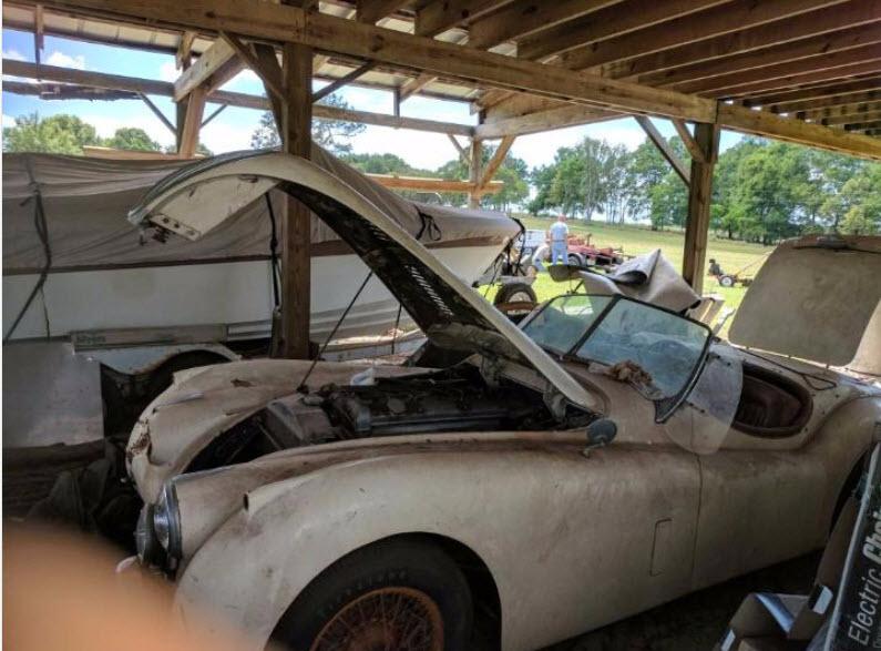 dirtyoldcars.com   1953 Jaguar XK120 Roadster Found in New York   5
