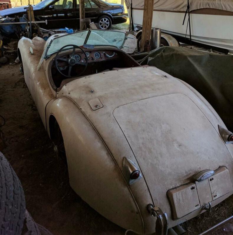 dirtyoldcars.com   1953 Jaguar XK120 Roadster Found in New York   4