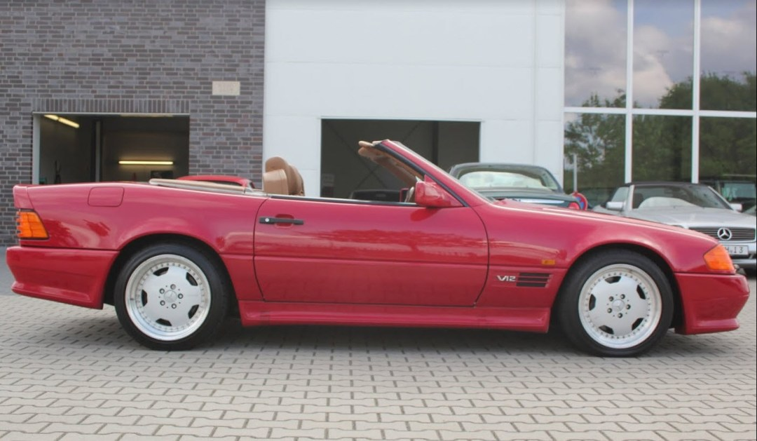 dirtyoldcars.com 1993 Mercedes 600SL AMG Found in Germany 11