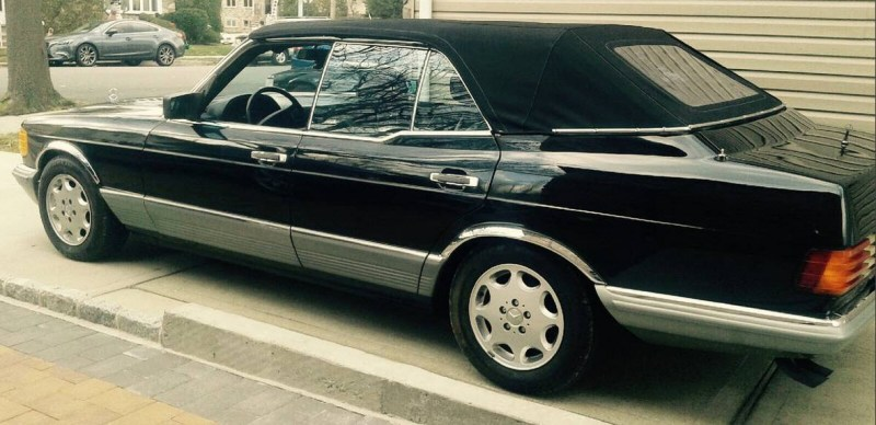 dirtyoldcars.com 1984 Mercedes 500SEL Convertible Caruna Conversion Found in New York 8