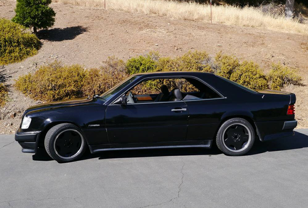 dirtyoldcars.com 1989 Mercedes 300CE Black AMG Found in Sonora California 9