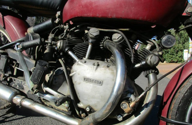 dirtyoldcars.com 1952 Vincent Series C Touring Rapide Found in Ojai 1