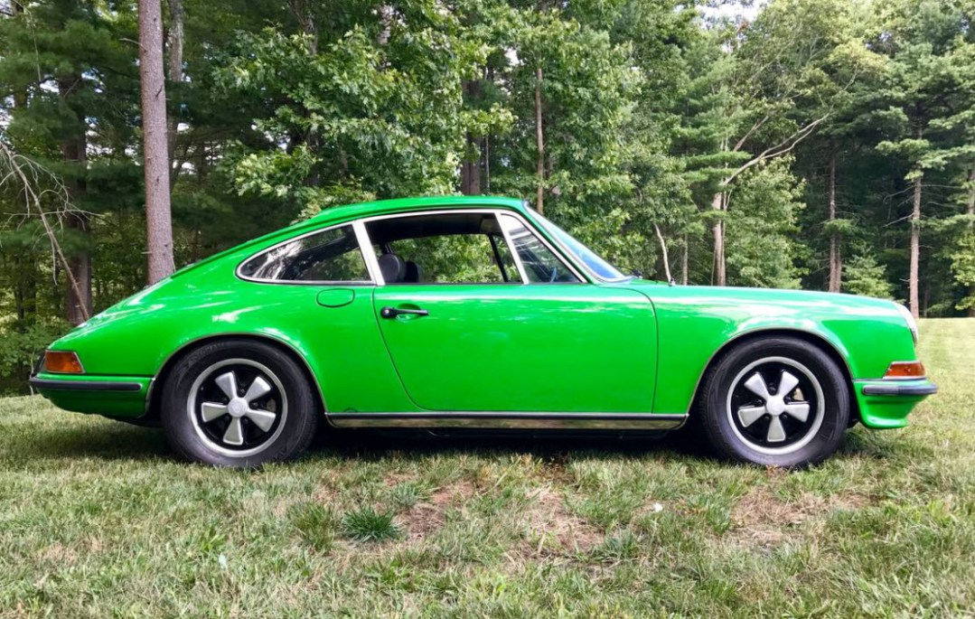 dirtyoldcars.com 1972 Porsche 911S Found in Boston viper green 1 of 6 8