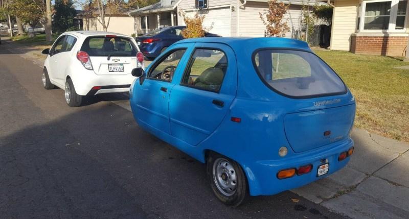 dirtyoldcars.com  Zap Xebra Electric City Car Found in Sacramento California  2