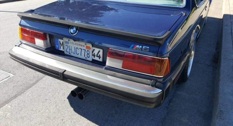 dirtyoldcars.com   1987 BMW M6 E24 Found in San Mateo  California   Blue   11