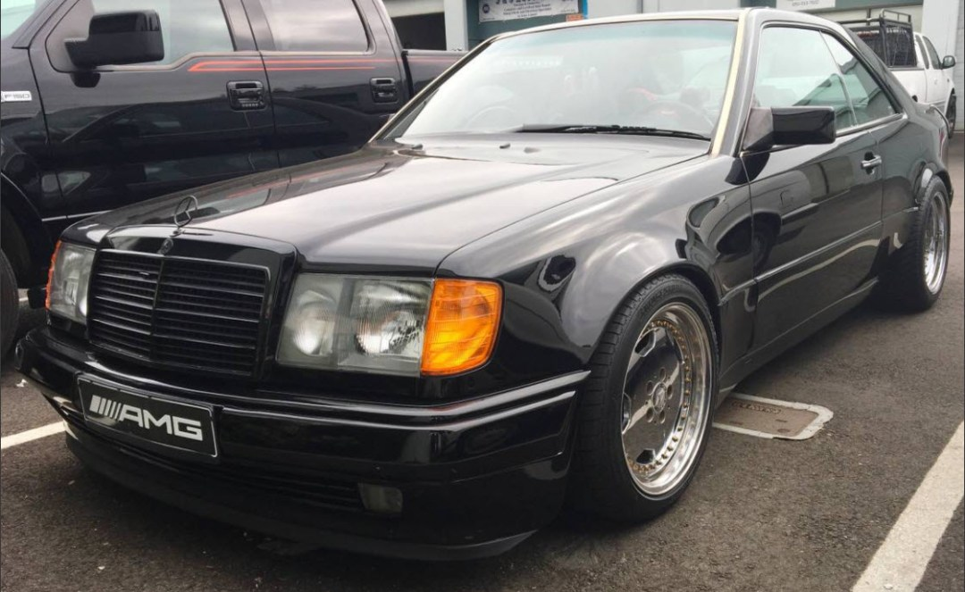 dirtyoldcars.com AMG Hammer Build Found in Hayward California 1994 E320 Coupe 15