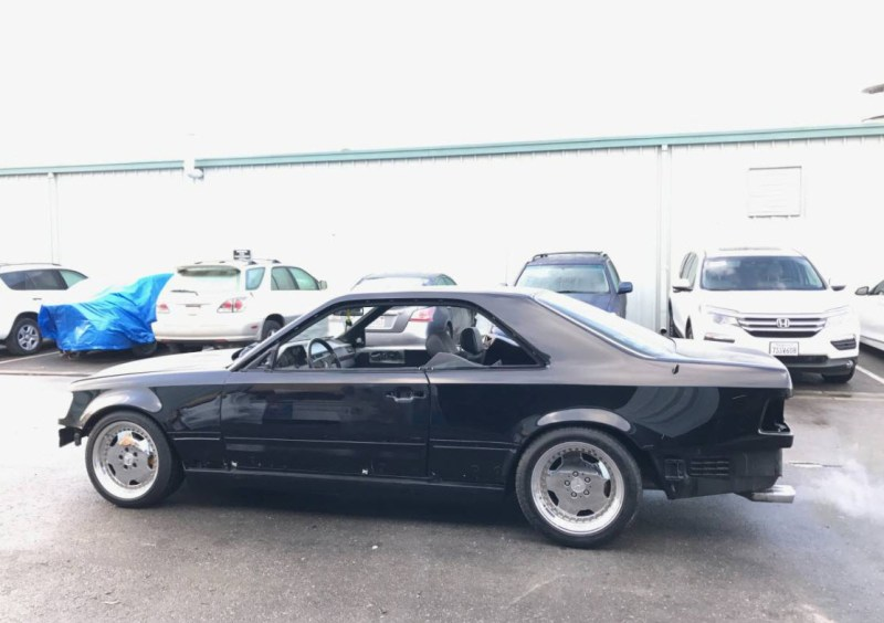 dirtyoldcars.com AMG Hammer Build Found in Hayward California 1994 E320 Coupe 9