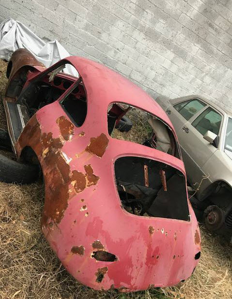 dirtyoldcars.com 1963 Porsche 356SC Shell Found in Philadelphia Pennsylvania VIN 116439 Porsche 9