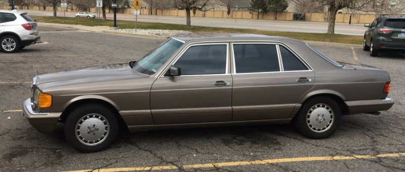 dirtyoldcars.com   Mercedes 560 SEL With Rare Seating Option Found in Denver   2