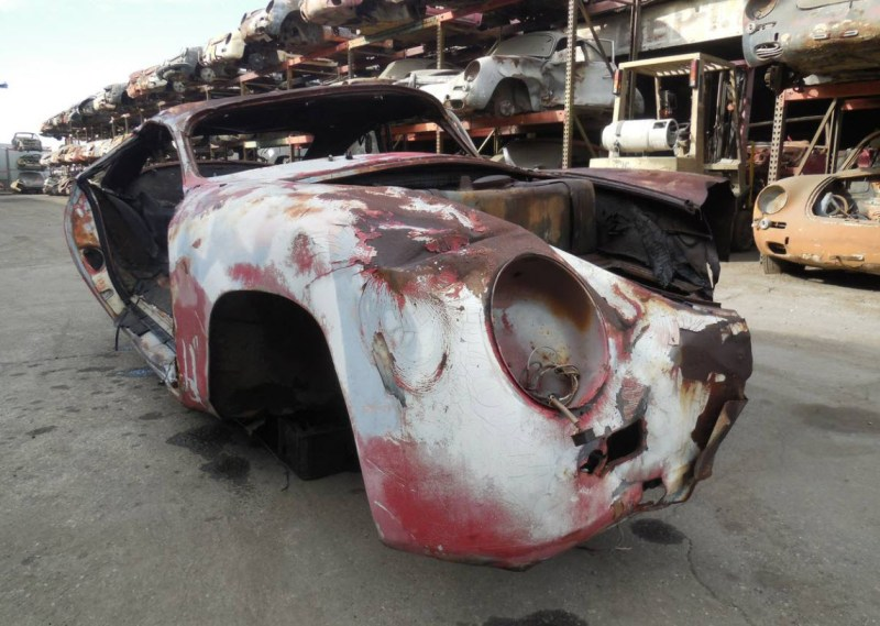 dirtyoldcars.com  1959 Porsche 356 A Coupe Project Car for Parts or Restoration 356A    1