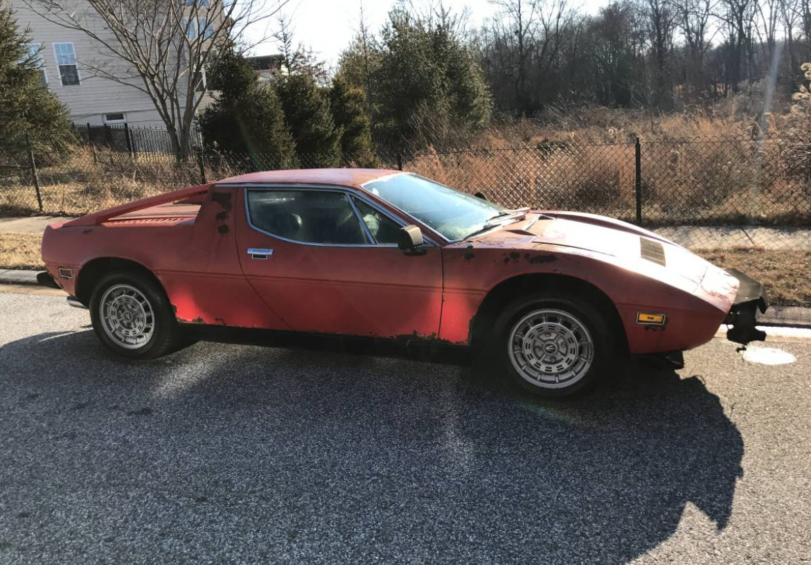 dirtyoldcars.com 1979 Maserati Merak SS with Bora Dash Found in Maryland 13