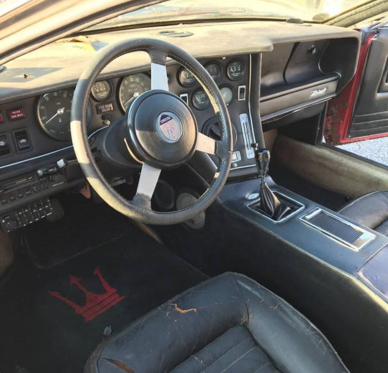 dirtyoldcarsc.com   1979 Maserati Merak SS  with Bora Dash Found in Maryland   9