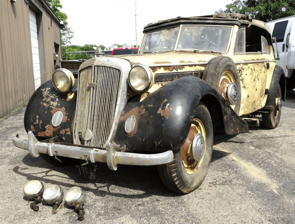 dirtyoldcars.com 1937 Horch 930 V Cabriolet Found in New York 5