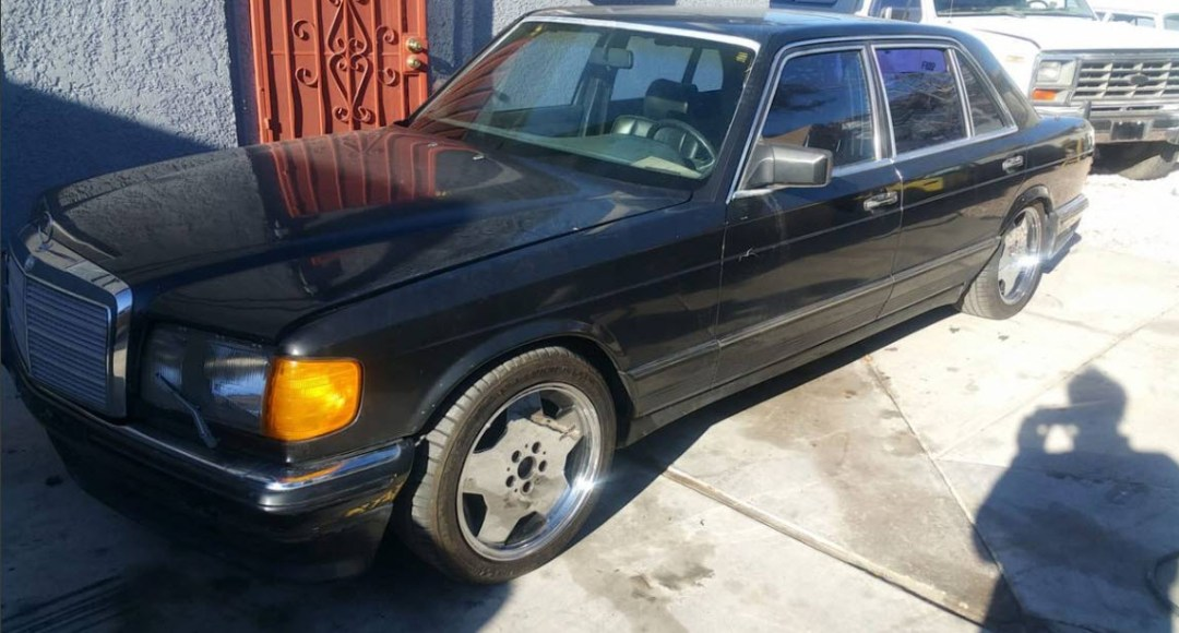 dirtyoldcars.com Mercedes 5000SEL Gemballa Found in Las Vegas 3