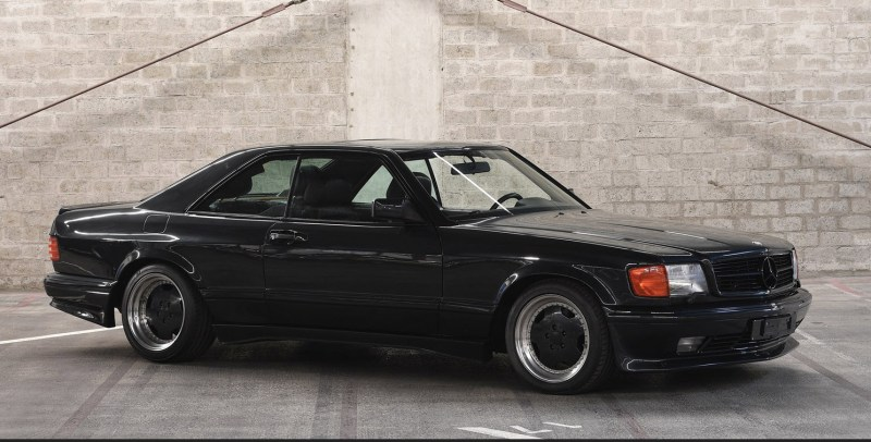 dirtyoldcars.com 1989 Mercedes 560 SEC AMG 6.0 Wide Body For Sothebys Auction Amelia Island 5
