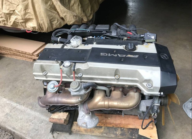 dirtyoldcars.com AMG 3.6L Motor Found in Seattle w124 280hp Japan e320 coupe 2