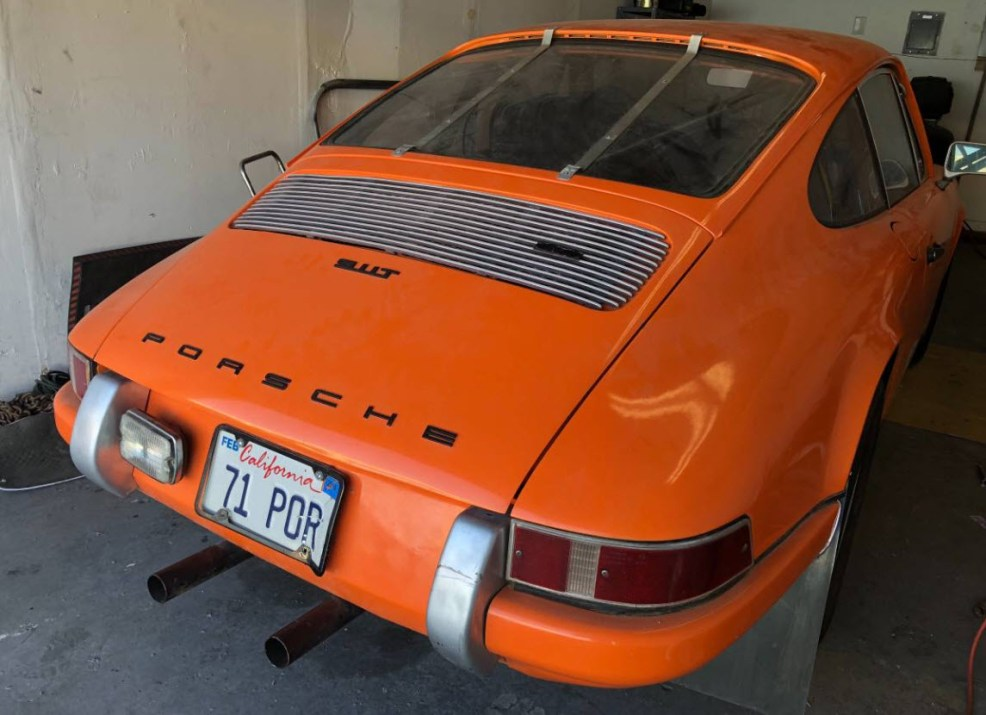 dirtyoldcars.com 1971 Porsche 911T Found in Fremont San Francisco Race Car 4