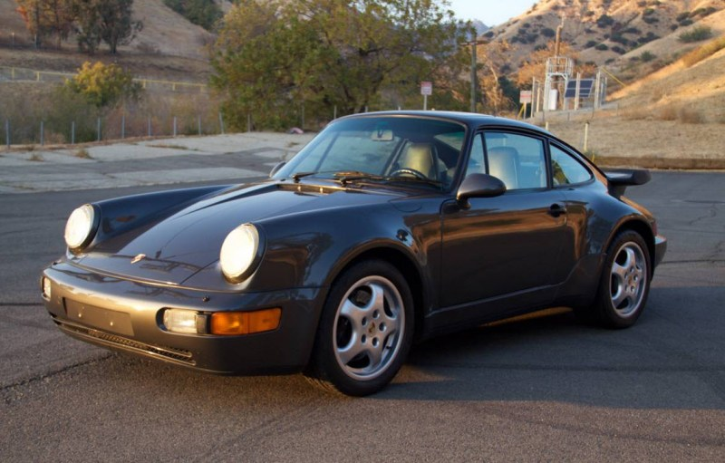 dirtyoldcars.com 1991 Porsche 964 Turbo Found in Tarzana 911 Turbo Slate Grey California 6