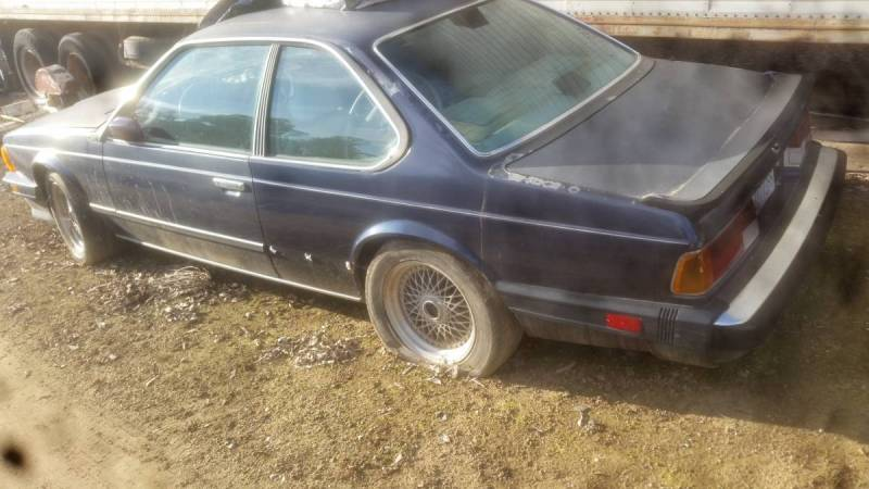 dirtyoldcars.com  `1987 BMW M6 blue gilroy project  2