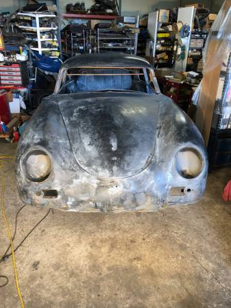 dirtyoldcars.com Porsche 1954 reutter coupe pre-a bent window coupe 1